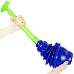 High Power Pressure Toilet Plunger Pipe UnClog Cleaner Unblo